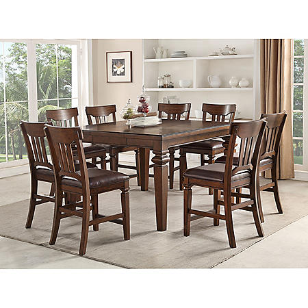 Member S Mark Carter 9 Piece Counter Height Dining Set Sam S Club