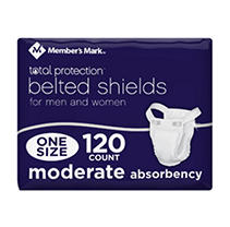 Member's Mark Belted Shields for Men or Women (120 ct.)