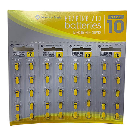 Members Mark Hearing Aid Batteries, Size 10A (40 ct.)