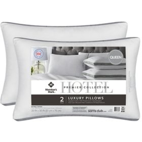 Hotel Premier Collection Queen Pillows by Member's Mark (2 Pack)