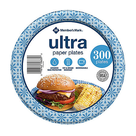 "Member's Mark Ultra Lunch Paper Plates (8.5"", 300 ct.)"