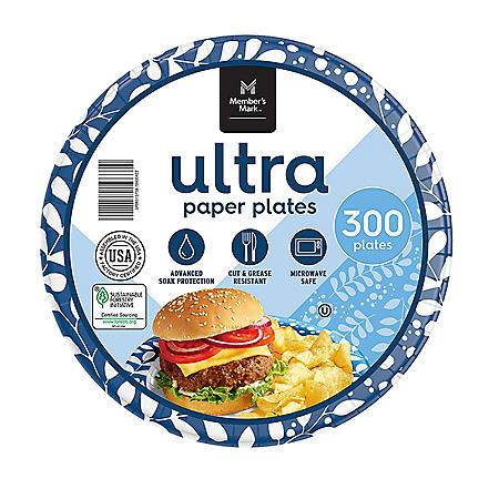 "Member's Mark Ultra 8.5"" Printed Paper Plates (300 ct.)"