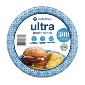 "Member's Mark Ultra 8.5"" Printed Paper Plates (300 ct.)"