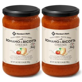 Member's Mark Traditional Pasta Sauce with Romano and Ricotta Cheeses(24 oz. ea., 2 pk.)