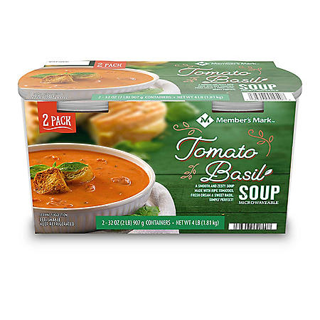 Member's Mark Tomato Basil Soup (32 oz. tubs, 2 pk.)