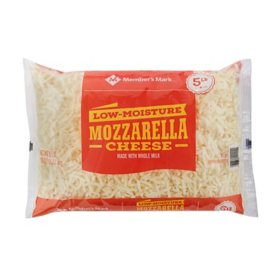 Member's Mark Shredded Mozzarella Cheese, Whole Milk Low-Moisture (5 lbs.)