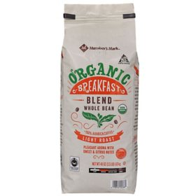 Member's Mark Organic Breakfast Blend Whole Bean Coffee (40 oz)
