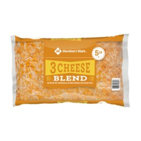 Member's Mark Three-Cheese Blend Shredded Cheese (5 lbs.)