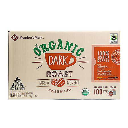 Member's Mark Organic Dark Roast Coffee, Single-Serve Cups (100 ct.)