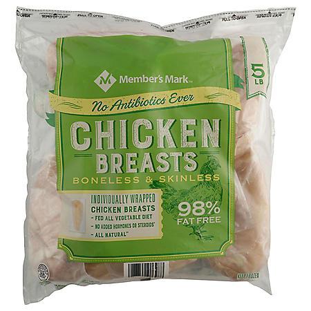 Member's Mark Boneless Skinless Chicken Breast, Frozen (5 lbs.)