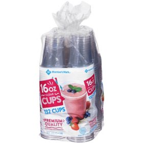 Member's Mark Clear Plastic Cups (16 oz.,132 ct.)