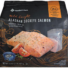 Member's Mark Wild Caught Alaskan Sockeye Salmon, Frozen (2 lbs.)
