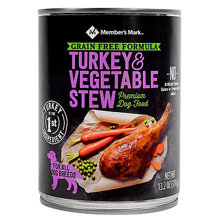 Member's Mark Grain Free Turkey & Vegetable Stew Premium Dog Food (13.2 oz., 24 ct.)