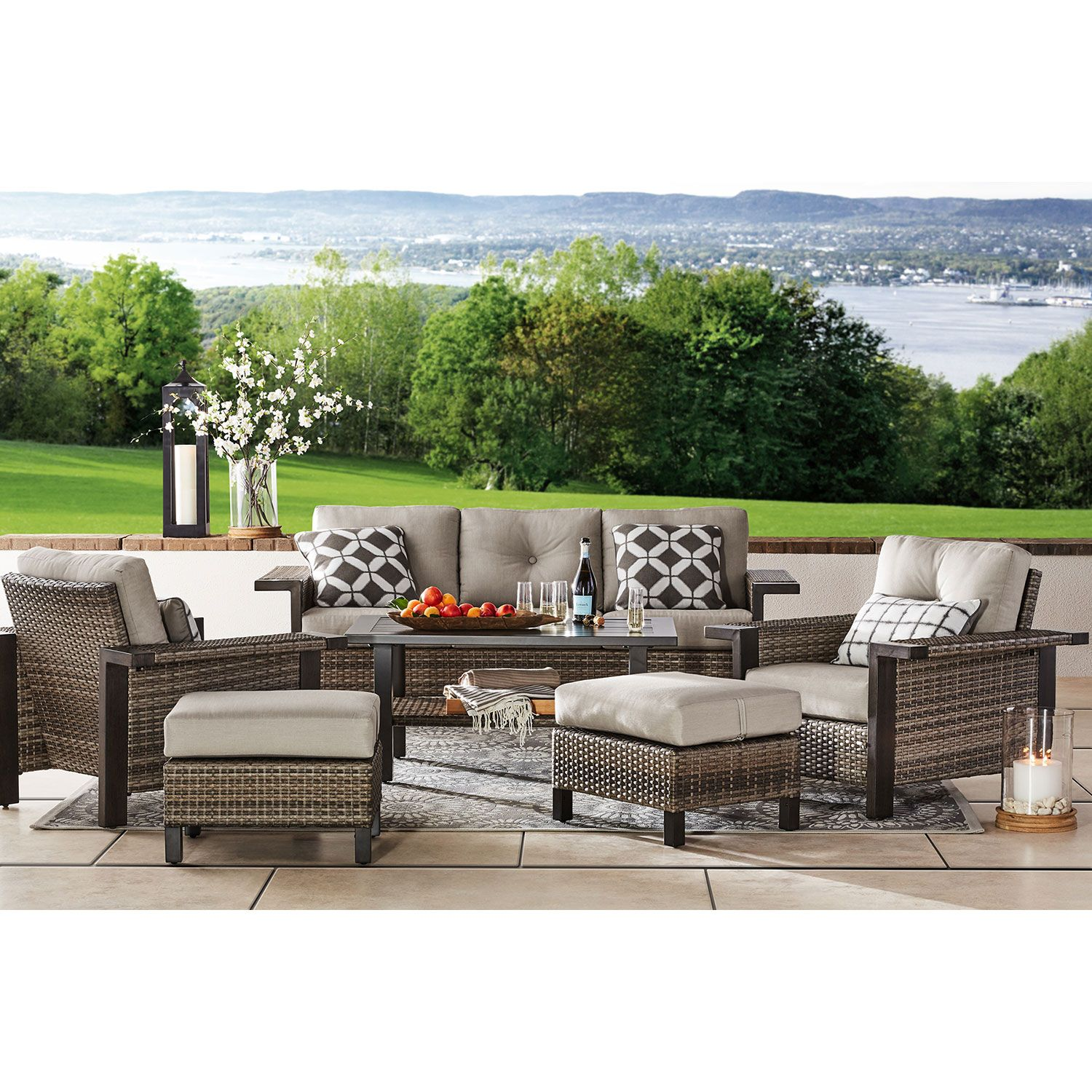 Member's Mark Agio Collection Manchester 6 Piece Patio Seating Set