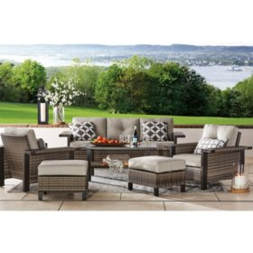 Member's Mark Agio Manchester 6-Piece Patio Deep Seating Set with Sunbrella® Fabric