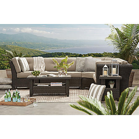 Member's Mark Agio Heritage 6-Piece. Sectional with Sunbrella® Fabric