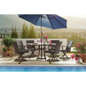 Member's Mark Agio Fremont 7-Piece Patio Dining Set