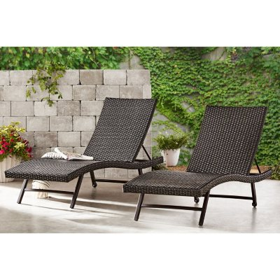Memberu0027s Mark Agio Heritage Woven Chaise Lounge - 2-Pack  sc 1 st  Samu0027s Club & Patio Chairs Outdoor Daybed Outdoor Lounges For Sale Near Me ...