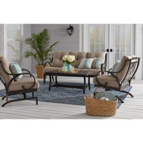 Member's Mark Harbor Hill 4-Piece Deep Seating Set - Cast Shale