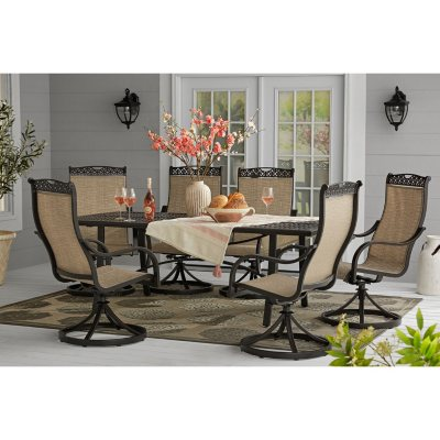Awesome Memberu0027s Mark Harbor Hill 7 Piece Sling Dining Set