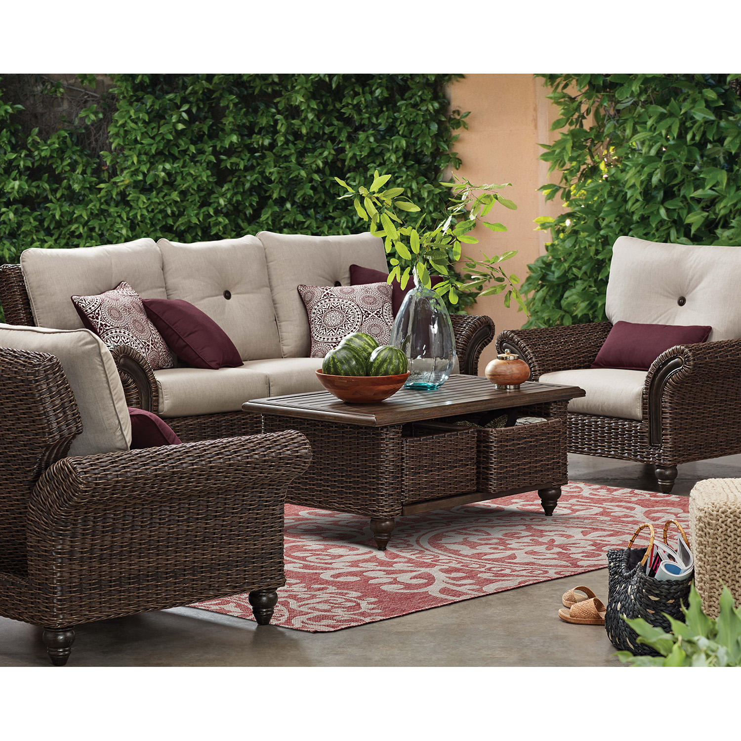Member's Mark Mystic Ridge 6-Piece Deep Seating Set (Brown)