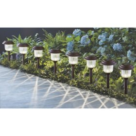 Member's Mark 8-Piece LED Solar Path Lights (Oil Rubbed Bronze)