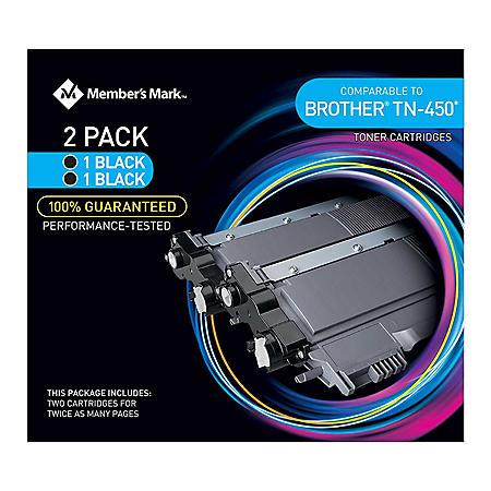 Member's Mark Remanufactured Brother TN450 (2 pk., 2 Black Toner Cartridges)