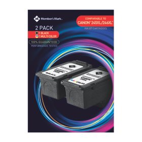 Member's Mark Remanufactured PG245XL/CL246XL (2 pk., 1 Black, 1 Color Ink Cartridge)