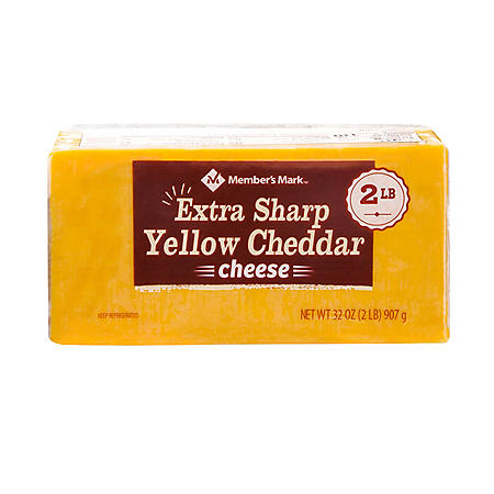 Member's Mark Extra Sharp Cheddar Cheese Block (2 lbs.)