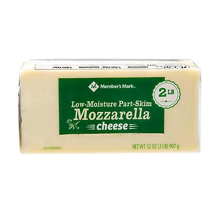Member's Mark Low-Moisture, Part-Skim, Mozzarella Cheese Block (2 lbs.)