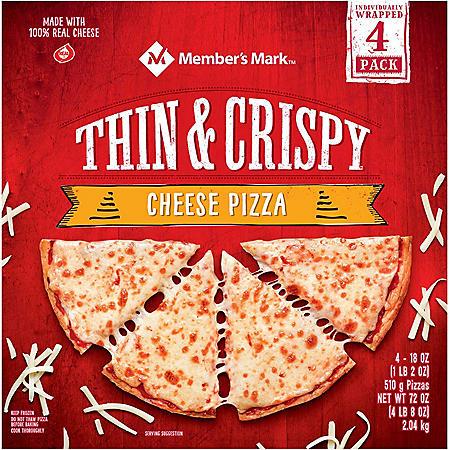 Member's Mark Thin Crust Cheese Pizza (4 ct.)
