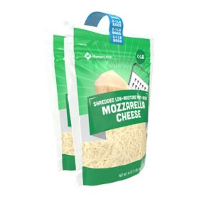 Member's Mark Part-Skim Shredded Mozzarella Cheese (16 oz., 2 pk.)