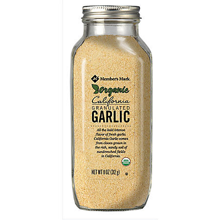 Member's Mark Organic Granulated California Garlic (11 oz.)