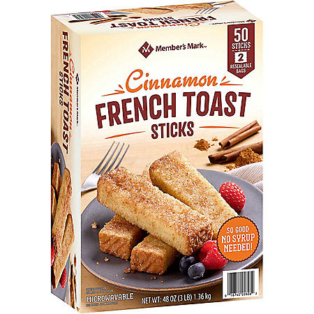 Member's Mark Cinnamon French Toast Sticks, Frozen (50 ct.)
