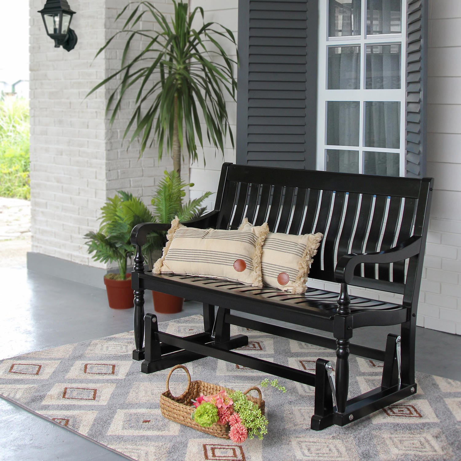 Member's Mark Painted Wood Glider Bench