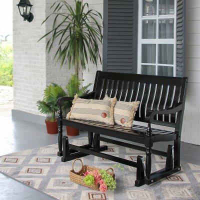 Memberu0027s Mark Painted Wood Glider Bench ... & Outdoor Benches u0026 Patio Gliders - Samu0027s Club