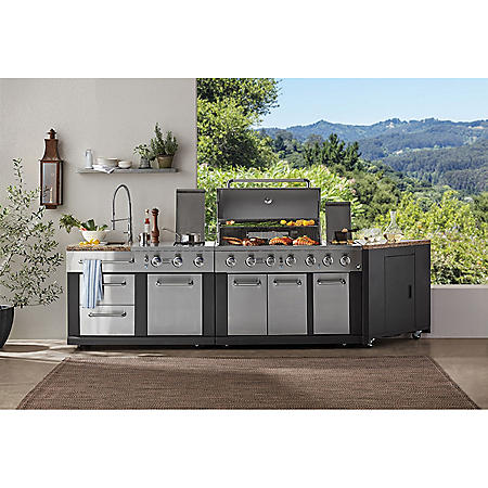 Member S Mark 3 Piece Modular Outdoor Kitchen 5 Burner Grill Sam Club