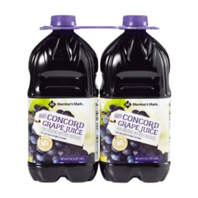 Member's Mark 100% Concord Grape Juice (64oz / 2pk)