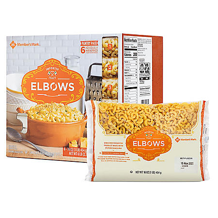 Member's Mark Elbow Macaroni Pantry Pack (1 lb., 6 pk.)