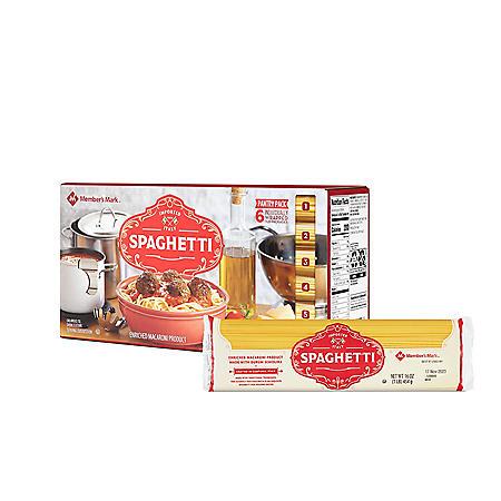 Member's Mark Spaghetti Pasta Pantry Pack (1 lb., 6 pk.)