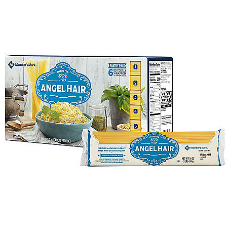 Member's Mark Angel Hair Pasta Pantry Pack (1 lb., 6 pk.)