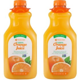 Member's Mark 100% Orange Juice, Pulp Free (52 fl. oz. 2 pk.)