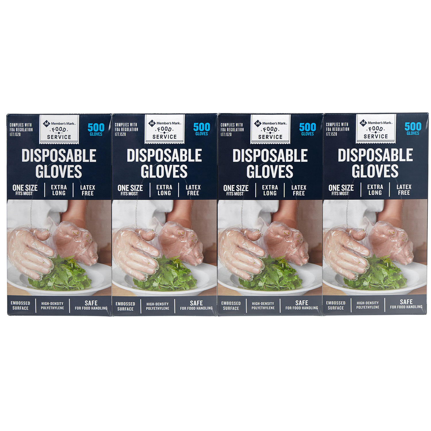 2000-Count Member's Mark Plastic Disposable Gloves