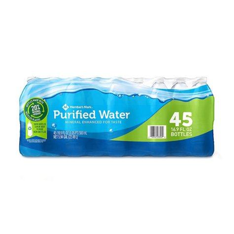 Member's Mark Purified Bottled Water (16.9 fl. oz., 45 pk.)