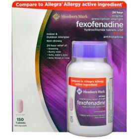 Member's Mark 180 mg Fexofenadine (150 ct.)