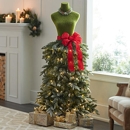 Dress Form Christmas Tree.Member S Mark Premium 5 Dress Form Tree Assorted Colors