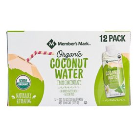 Member's Mark Organic Coconut Water (11.1oz / 12pk)