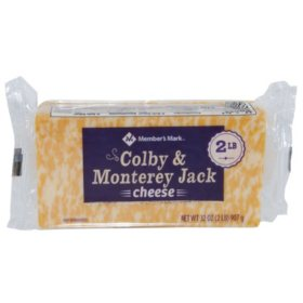 Member's Mark Colby and Monterey Jack Cheese Chunk (2 lbs.)