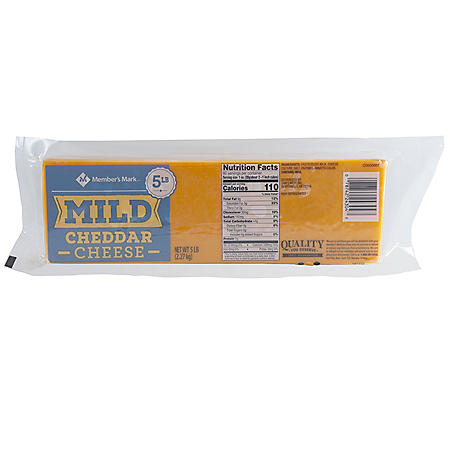Member's Mark Mild Cheddar Cheese, Loaf (5 lbs.)