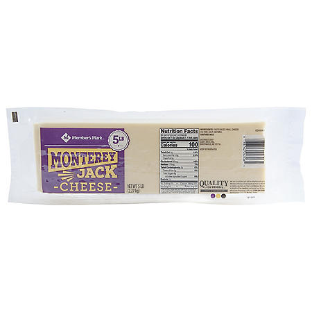 Member's Mark Monterey Jack Cheese Block (5 lbs.)